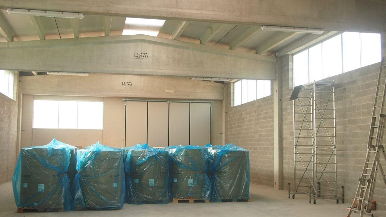 Unità di stoccaggio e deposito per la sede di Baldichieri d'Asti